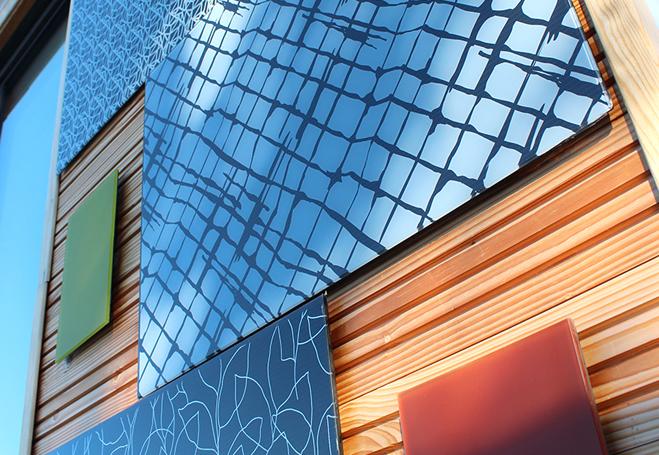 Exemple de façade photovoltaïque du produit Cameleon