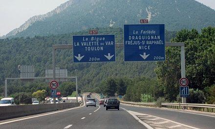 Toulon – Préparation du chantier pour l'élargissement de l'A57